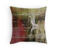 Blue Heron Autumn Muskoka Throw Pillow