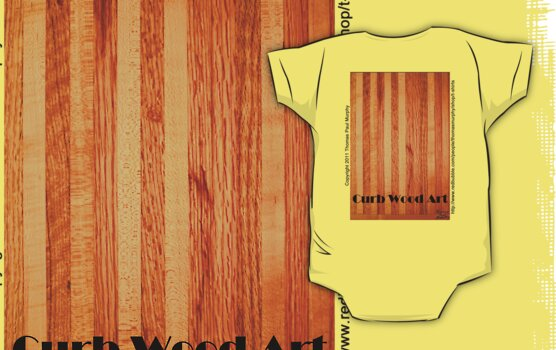 Official Curb Wood Art T shirt by Thomas Murphy