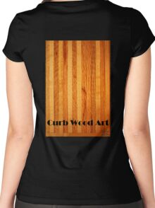 Official Curb Wood Art T shirt Women's Fitted Scoop T-Shirt