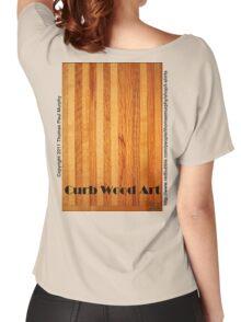 Official Curb Wood Art T shirt Women's Relaxed Fit T-Shirt