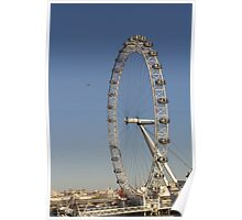 London Eye View with Helicopter Poster