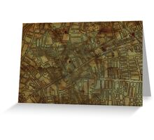 Altered, Whitechapel Map I Greeting Card