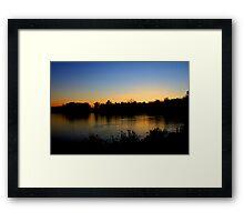 Sunset  12/11/11 Joshua Fronczak Framed Print