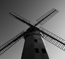 Upminster Windmill Essex England Black and white  by DavidHornchurch