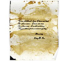 Altered, Edgar Allan Poe Quote Page Poster