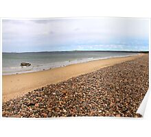 Burghead Bay at Findhorn, Moray Firth, Scotland  Poster