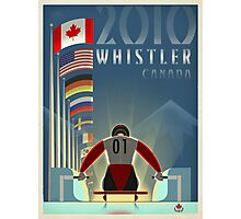 """Olympic Luge"" Whistler, BC Travel Poster Photographic Print"