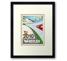 """Olympic Bobsled"" Whistler, BC Travel Poster Framed Print"