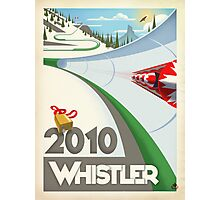 """Olympic Bobsled"" Whistler, BC Travel Poster Photographic Print"