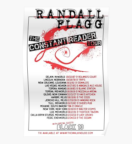Randall Flagg World Tour- Metal/Hardcore/Punk Style Poster