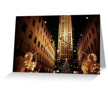 Rockefeller Center Christmas Tree and Angels Greeting Card