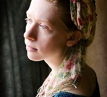 portrait of a young lady by the window by ozzzywoman