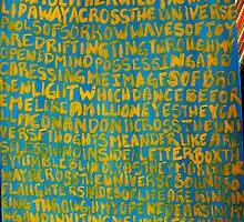 Across the Universe ~ Painted Lyrics by Christina Darcy