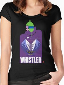 """Full Moon"" Whistler Village Shirt Women's Fitted Scoop T-Shirt"