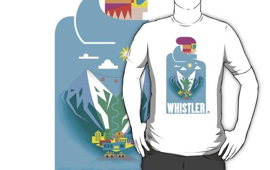"""""""Blue Bird"""" Whistler Village Shirt by James Tuer"""