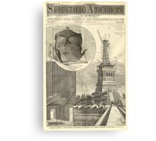 Construction of The Statue of Liberty Illustration Canvas Print