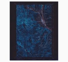 USGS Topo Map Washington State WA Wenatchee 244602 1915 62500 Inverted One Piece - Short Sleeve
