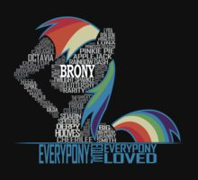 Brony Typography One Piece - Short Sleeve