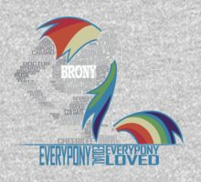 Brony Typography One Piece - Long Sleeve