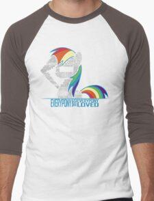 Brony Typography Men's Baseball ¾ T-Shirt
