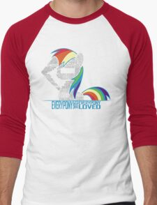 Brony Typography Men's Baseball ¾ T-Shirt