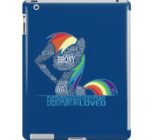 Brony Typography iPad Case/Skin