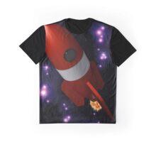 Retro Rocket Graphic T-Shirt