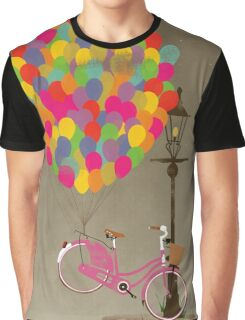 Love to Ride my Bike with Balloons even if it's not practical. Graphic T-Shirt