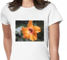 BEAUTIFUL PEACH HIBISCUS OPEN TO THE SUN Womens Fitted T-Shirt