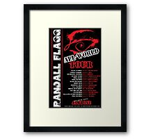 Randall Flagg World Tour- 80s Metal/Rock Style Framed Print