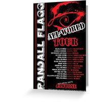 Randall Flagg World Tour- 80s Metal/Rock Style Greeting Card