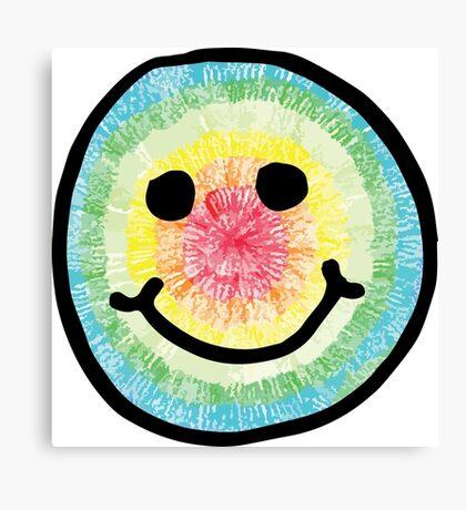 Tie Dye Smiley  Canvas Print