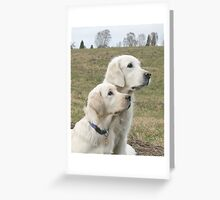 Ditte and Sallie Greeting Card