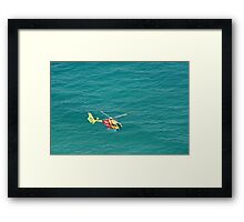 Higher than a helicopter Framed Print