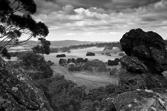 A view from Hanging Rock Victoria by John Holding