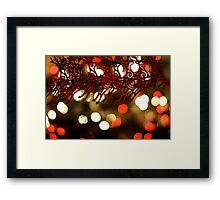 Won't you guide my sleigh tonight? (version 2) Framed Print