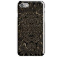golden lion / black iPhone Case/Skin