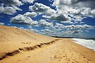 Ninety Mile Beach at Lakes Entrance by Darren Stones