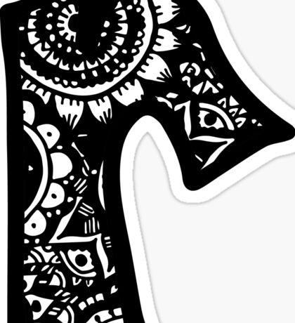 R Doodle Letter Sticker