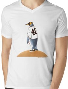 Bumgarner Penguin Mens V-Neck T-Shirt