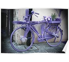 Lavender bicycle Poster