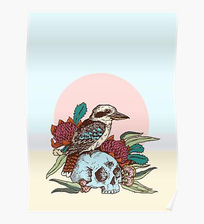Laughing bird Poster