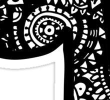 Q Doodle Lette Sticker