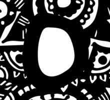 O Doodle Letter Sticker