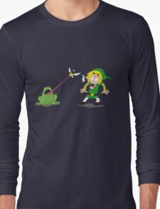 Link and a frog Long Sleeve T-Shirt