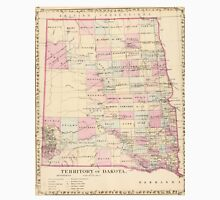 Vintage Map of The Dakota Territory (1880) Unisex T-Shirt