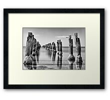 Clifton Springs pier, Bellarine peninsula Framed Print