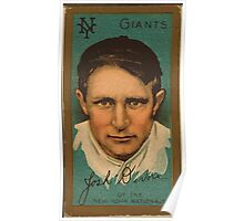 Benjamin K Edwards Collection Joshua Devore New York Giants baseball card portrait Poster