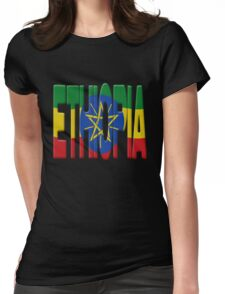 Ethiopia flag Womens Fitted T-Shirt