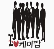 I Heart KPOP in Korean language by cheeckymonkey